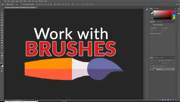 Work with brushes inline drawing