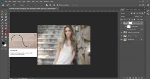 how blur background in photoshop
