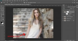 how to blur background photoshop | Making A Range Using The Pen Tool