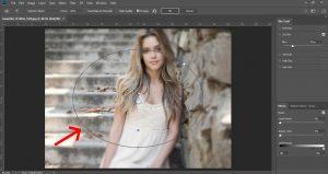 Applying The Irish Blur on photoshop