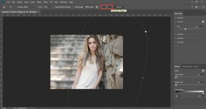 how to blur part of a picture in photoshop